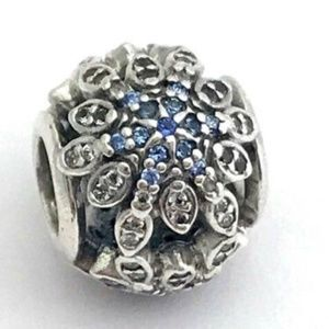 PANDORA Crystalized Snowflakes Blue Crystal Charm